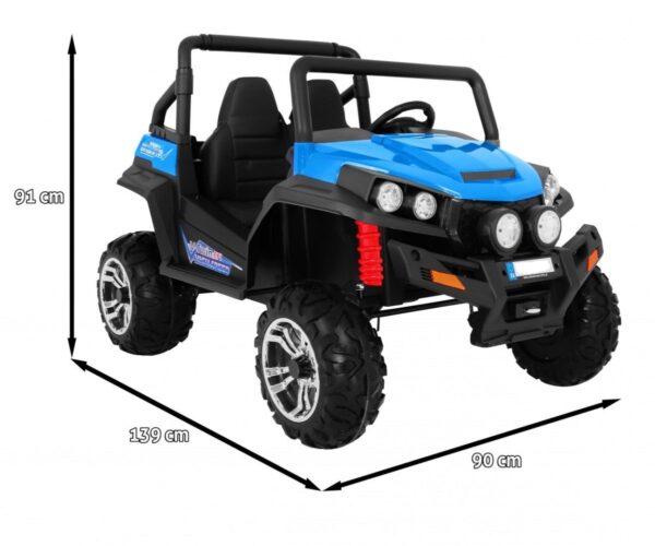 Masinuta electrica pentru copii cu 2 locuri, BUGGY S2588 4×4, Albastru