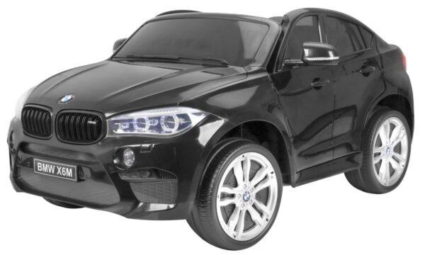 Masinuta electrica pentru copii BMW X6M (2168) XXL cu 2 locuri, Negru metalizat
