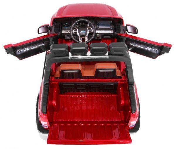 Masinuta Electrica Pentru Copii Ford Ranger 650, Ecran LCD, 4×4 Visiniu metalizat