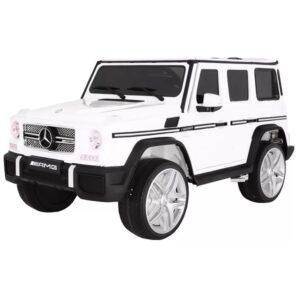 masinuta-electrica-pentru-copii-mercedes-g65-metalizat-alb