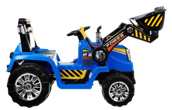 Tractor electric pentru copii cu Telecomanda 2.4GHz (1005) Albastru