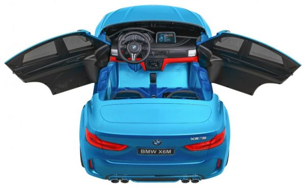 Masinuta electrica pentru copii BMW X6M (2168) XXL cu 2 locuri, Albastru metalizat