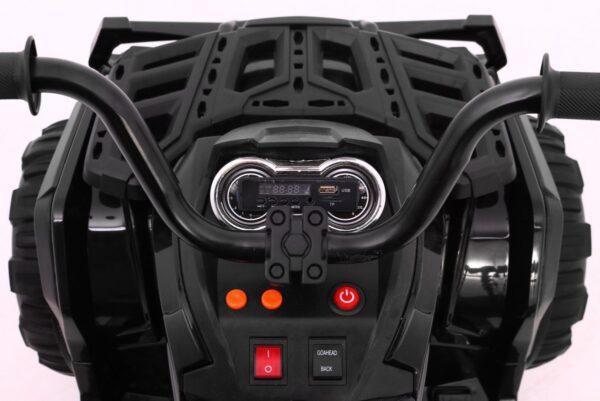ATV electric pentru copii cu telecomanda 2.4GHz (0906) EVA NEGRU