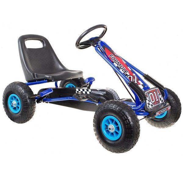 Kart cu pedale pentru copii cu roti gonflabile (A15) Albastru