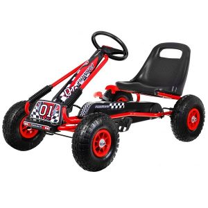 Kart cu pedale pentru copii cu roti gonflabile (A15) Rosu