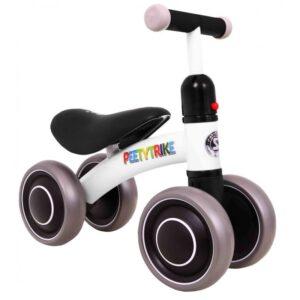 Tricicleta pentru copii fara pedale PEETYTRIKE, Alb