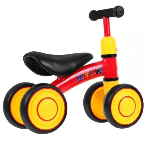 Tricicleta pentru copii fara pedale PEETYTRIKE, Rosu