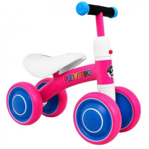 Tricicleta pentru copii fara pedale PEETYTRIKE, Roz