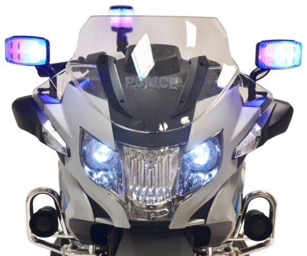 Motocicleta electrica pentru copii BMW Politia (212) 12 volti, Gri