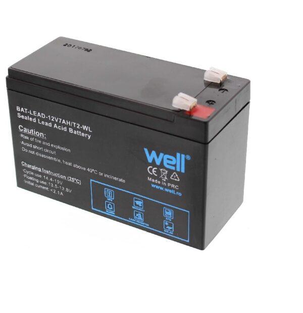 Acumulator pentru masinute electrice, plumb acid 12V 7AH, Well