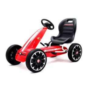 kart-cu-pedale-pentru-copii-fiat-500-abarth-9388-rosu