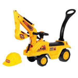 masinuta-fara-pedale-pentru-copii-excavator-cu-casca-1007-galben