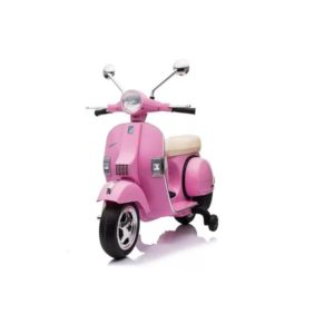 Motocicleta electrica pentru copii Scuter Vespa PX150, Roz