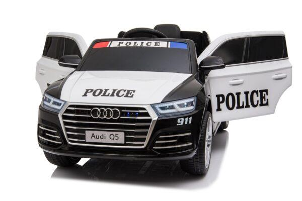 Masinuta electrica pentru copii AUDI Q5 POLITIA (S305) Negru