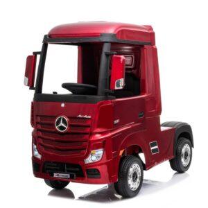 Masinuta electrica penru copii Camion Mercedes Benz ACTROS (358) 4×4, Visiniu metalizat