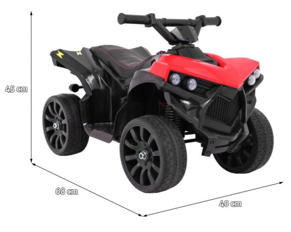 Mini ATV pentru copii 6 volti, NAVI (570) , Rosu