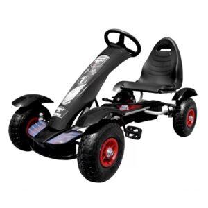 kart-cu-pedale-pentru-copii-f618-roti-gonflabile-negru