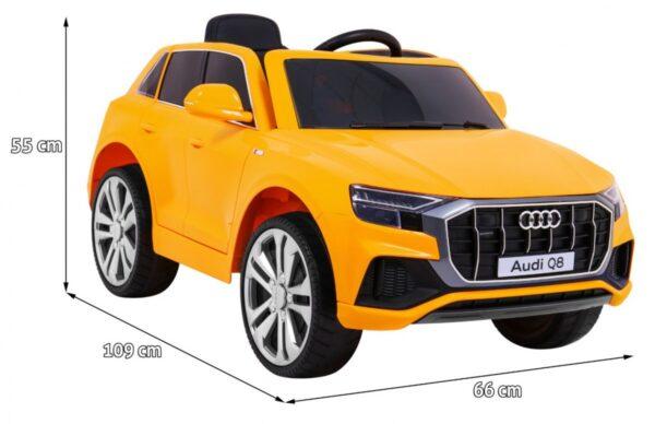 Masinuta electrica pentru copii AUDI Q8 LIFT (2066) Galben