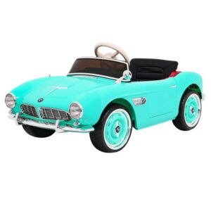 masinuta-electrica-pentru-copii-bmw-507-retro-1938-verde-turcoaz