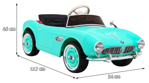 Masinuta electrica pentru copii BMW 507 Retro (1938) Verde Turcoaz