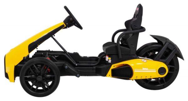 """Kart electric pentru copii 12 volti """"Bolid XR-1"""" cu 3 roti (9939) Galben"""