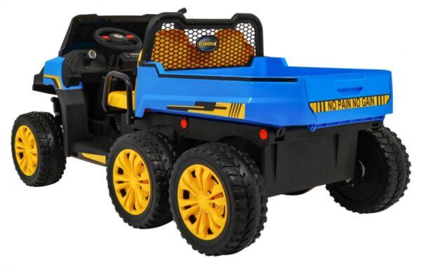 """Masinuta electrica """"Tractor tip ferma"""" 4×4 cu remorca ( A730) Albastru"""