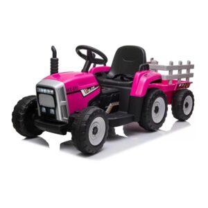 tractor-electric-cu-remorca-pentru-copii-611-roz