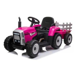 tractor-electric-cu-remorca-pentru-copii-blow-truck-mx-611-roz
