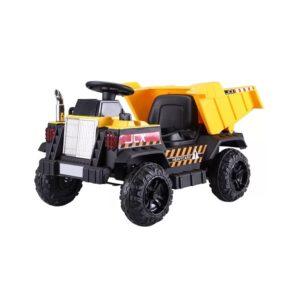 """Masinuta electrica pentru copii """"Construction Truck"""" cu basculanta (s606) Galben"""
