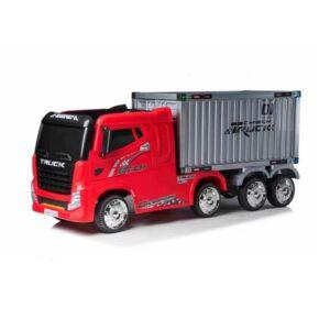 """Masinuta electrica pentru copii Camion cu remorca """"Container Truck"""" (2011) Rosu"""