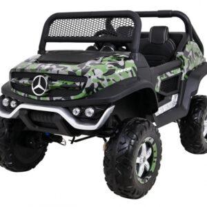 Masinuta electrica pentru copii Mercedes Benz UNIMOG 4×4, Military