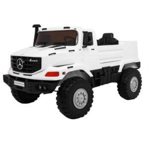 Masinuta electrica pentru copii cu 2 locuri SUV Mercedes Benz Zetros (0916) Alb