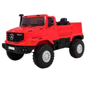 Masinuta electrica pentru copii cu 2 locuri SUV Mercedes Benz Zetros (0916) Rosu